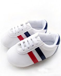 WXBUY Toddler Baby Shoes Stripe Soft Bottom Cute Shoes SZ 11 WXBUY. Stripped Baby Shoes fashionable!