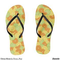 Citrus Slices  - a citrus inspired pattern in flip flops