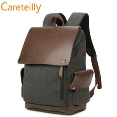 Sweet-Tempered 15 Inch Laptop Backpack Brown Leather Vintage School Bag College Rucksack Khaki School Backpack With Front And Side Pockets Fine Quality Backpacks Luggage & Bags