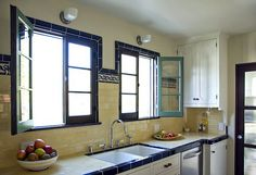 vintage kitchen tile countertops