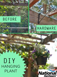 DIY hanging plant project with National Hardware swivel bracket
