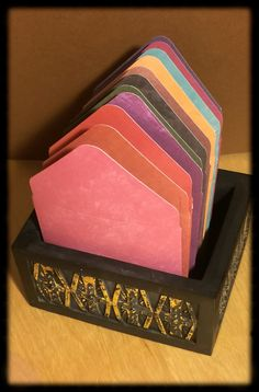 3x3 Mini Envelopes w/Blank Note Cards  Set of 11  by PoeticGarb