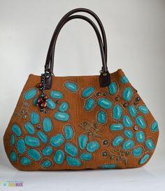 "Designer handbag ""Turquoise island""  ooak"