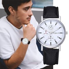 Watches Quartz Watches Qualified Geneva Fashion Men Date Alloy Case Synthetic Leather Analog Quartz Sport Watch Mens Watches Top Brand Luxury Masculino Reloj #10 Good Companions For Children As Well As Adults