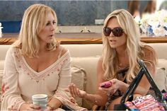 It is the morning after the blow up with Lizzie and Tamra and Tamra is still furious with Heather. She won't acknowledge any of Heather's friendly chit chat, leaving Vicki to respond to her questions and comments... Read more and join in at: http://www.allaboutthetea.com/2014/08/12/rhoc-recap-s9e17/