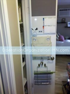 operation organization: Organizing Small Spaces : Utilize Every Nook & Cranny - behind the door