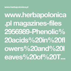 www.herbapolonica.pl magazines-files 2956989-Phenolic%20acids%20in%20flowers%20and%20leaves%20of%20Trifolium%20repens%20L......pdf