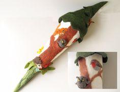 Schultüten - Schultüte - Tanne mit Waldtieren - ein Designerstück von miniaturi bei DaWanda