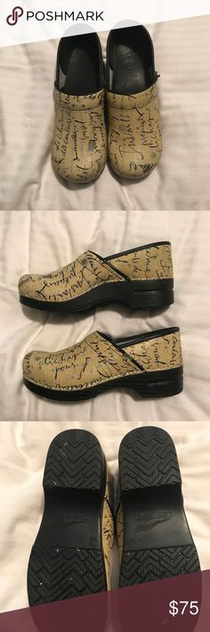 Dansko Professional size 42/11 EEUC - worn a couple of times, too small for me.  My loss, your gain!  Some wear along the sides on top of the shoes. Dansko Shoes Mules & Clogs