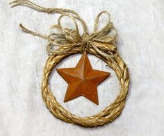 Western Cowboy Rope with Rusty Tin Star by texascountrydesigns, $14.98
