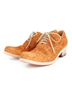 MOTORATORY LADY'S NIBE LEATHER PLANE TOE LOW-CUT SHOES NATURAL