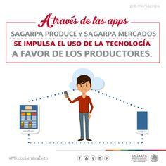 A través de las apps SAGARPA PRODUCE Y SAGARPA MERCADOS se impulsa el uso de la tecnología a favor de los productores. SAGARPA SAGARPAMX #MéxicoSiembraÉxito