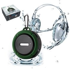 C6 Portable Wireless Waterproof Bluetooth Speaker For Outdoor/Shower with FM radio SD TF Card Built-in Microphone Suction Cup