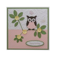 Handmade Little Owl Birthday Card £2.00