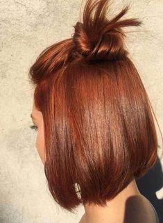 auburn hair Copper-Hair-Color-Idea Latest Trend Hair Color Ideas for Short Hair Copper Balayage, Balayage Hair, Ginger Hair Color, Short Hair Trends, Latest Hair Color, Short Straight Hair, Auburn Hair, Ombre Hair Color, Short Hair Colors