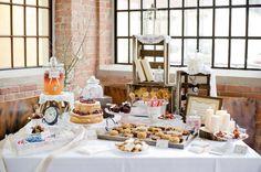 sweet-candy-table mit Weinkisten