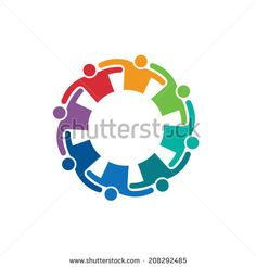 Teamwork Embrace 8 image. Vector icon