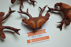 Broche de Ciervo / Deer Brooch / Pin por Mandarinasdetela en Etsy | Mandarinas! www.mandarinasdetela.wordpress.com | #handmade #doll #mandarinasdetela #mandarinas