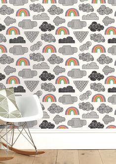 Clouds + Rainbows Wallpaper Sale