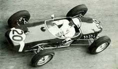 Stirling Moss in his Lotus 18 during the 1960 Monaco GP - which he won