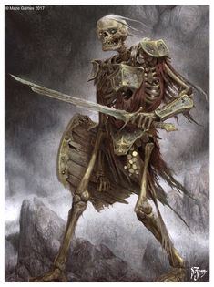 Skeleton warrior Shield Sword Daniel Zrom