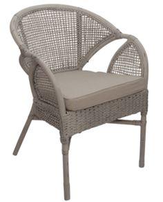Alfaro White Rattan Armchair & Cushion – Allissias Attic & Vintage French Style