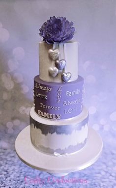 Joining of two families wedding cake - Cake by Kelly Cope