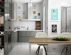 """Check out new work on my @Behance portfolio: """"Gray Kitchen"""" http://be.net/gallery/33300725/Gray-Kitchen"""
