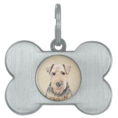 #Welsh Terrier Pet Name Tag - #pettag #pettags #dogtag #dogtags #puppy #dog #dogs #pet #pets #cute #doggie