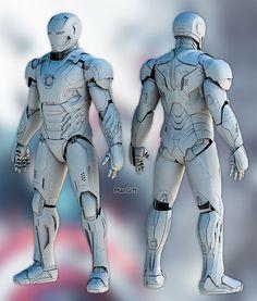 Mark 45 Pepakura pattern DIY by MaxCrft on Etsy Iron Man Cosplay, Cosplay Diy, Iron Man Suit, Iron Man Armor, Diy Costumes, Cosplay Costumes, Hand Cannon, Foam Armor, Super Anime