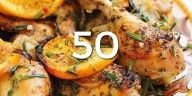 What are you having for dinner tonight? With this list of 50 healthy, delicious and low calorie weight loss meals, you have no excuse not to eat something delicious and healthy! All of these recipes will Low Calorie Dinners, Low Calorie Recipes, Diet Recipes, Cooking Recipes, Healthy Recipes, Chicken Recipes, Healthy Meals, Smoothie Recipes, Quick Meals