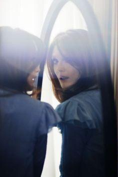 Julianne Moore by Serge Leblon #photography #blue #mirror