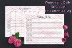 Weekly planner printable Daily schedule by SimpleSweetPrints