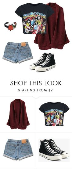 """""""What The Tired Kids Die In"""" by e-c-a-17 ❤ liked on Polyvore featuring Levi's, Converse and WithChic"""