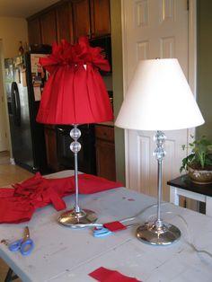 Georgia and daughter: Simple DIY lamp shade redo
