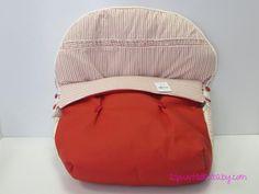 Saco Alves porta-bebé desmontable rayas color rojo ref 1462