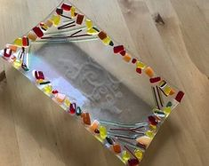 Color Lila, Fused Glass Art, Clothes Hanger, Bowls, Craft Projects, Crafts, Etsy, Sink, Flower