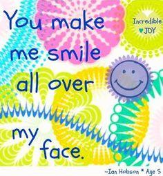 Smile quote via www.Facebook.com/IncredibleJoy