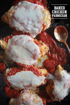 A simple weeknight dinner is just minutes away with this Baked Chicken Parmesan. Let your oven do all the work!