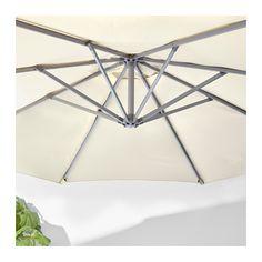 IKEA KARLSÖ/SVARTÖ parasol, hanging with base