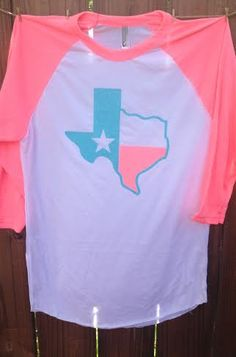 Hey, I found this really awesome Etsy listing at https://www.etsy.com/listing/192164346/texas-neon-heather-pink-raglan-glitter