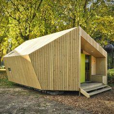 Ce refuge mobile pour randonneurs baptisé « The Trek-in cabin » a été imaginé et réalisé par six étudiants de l'Eindhoven University of Technology des Pays
