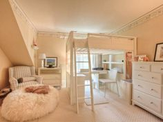 Kid's Bedroom: Converted Antique Carriage House Near Boston