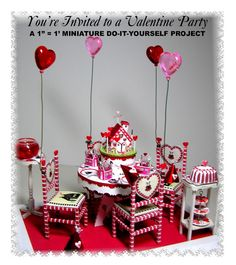 """DYI DOLLHOUSE MINIATURES: """"You're Invited...""""      Part One & Two & the fina..."""