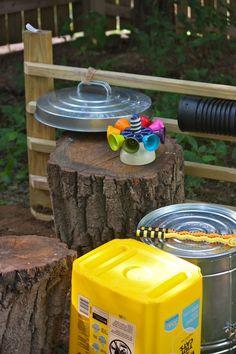 Backyard drum set
