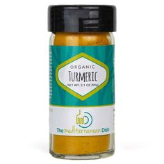 Organic Turmeric spice from The Mediterranean Dish Turmeric Spice, Organic Turmeric, Gourmet Recipes, Whole Food Recipes, Gourmet Foods, Mediterranean Spices, Spice Labels, Spices And Herbs, Spice Blends