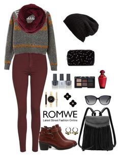 """""""Romwe 7"""" by amra-f ❤ liked on Polyvore featuring Topshop, Free People, BCBGMAXAZRIA, Michael Kors, Style & Co., Tory Burch, Forever 21, NARS Cosmetics, 1d and romwe"""