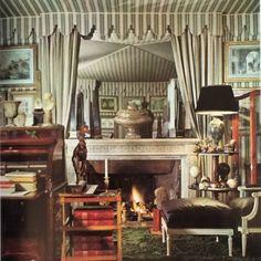 """Serge Royaux interior circa 1970 #jansen #frenchdecoration #tentedceiling #louisxvi"""