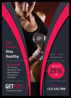 fitness flyer design for personal trainer | Flyers | Pinterest ...