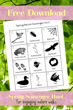 Get your kids to play nature detective and discover all the signs of nature s.